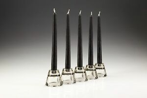 50 x 25cm Black Tapered Dinner Candles. High Quality wax
