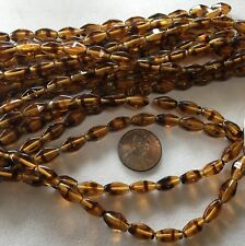 SEVENTY-FIVE (75) 10x5mm Bicones Czech Glass Beads - TORTOISE SHELL Amber & Blk