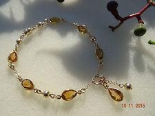 Armband mit Honig-Citrin,585 Gold Filled und warmes, zartes Gelb!