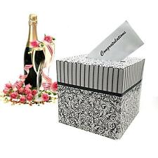 Adorox Black & White Wedding Card Money Gift Box Reception Wishing Well Party