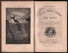 Giulio Verne 2° EDIZIONE  ILLUSTRATA-VINGT MILLE LIEUS SOUS LES MERS-1872-L716