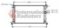RADIATORE RAFFREDDAMENTO DEL MOTORE - Van Wezel 37002220