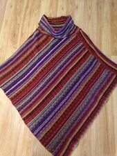 Big Buddha Poncho Sweater One Size Fits All Multi Color Free Shipping