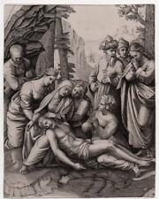 LE CHRIST PLEURE PAR LES SAINTES FEMMES  28X18 Eau forte  1860