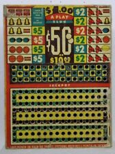 "Vintage Miniature Punch Card Gambling $1 Game ""Your Punch is Here"""