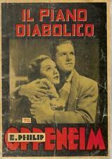 (E. Philip Oppeneim) Il piano diabolico 1947 Brighenti Milano 3