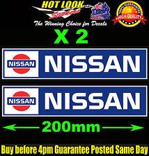 2 NISSAN Decals Car Race Rally Skyline 1600 SSS BlueBird Turbo JDM Drift Sticker