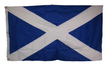 3x5 Embroidered Sewn Scotland Scottish Cross 600D 2ply Nylon Flag 3'x5'