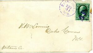 USA 147 ON COVER WITH PURPLE EVANSVILLE, WI DUPLEX CANCEL STAMP IS VF+++