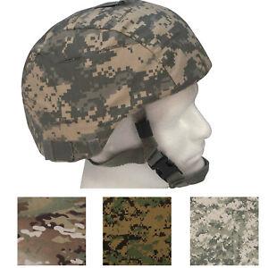 Tactical MICH Helmet Cover, Military Camo Army ACU Multicam Scorpion OCP Combat