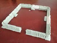 15mm 10mm Wargames Resin Siege Fortification Earthworks Terrain 23 Piece Set