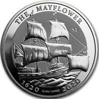 Mayflower 1 oz .999 Silver Coin w/capsule Pilgrims 2020 BVI 400th Anniversary