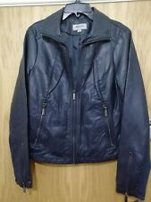Designer Label Faux Leather Jacket REACTION by Kenneth Cole Size XS RRP £150.00