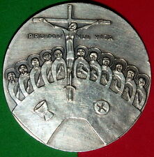 RELIGIOUS / JESUS / LAST SUPPER / PRO MUNDI VITA / FINE SILVER MEDAL