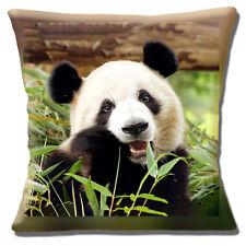 "Novelty Cute Giant Panda Eating Bamboo 16""x16"" 40cm Cushion Cover Photo print"