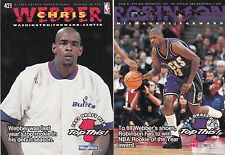 1994 NBA Hoops #421 Glenn Robinson Chris Webber Milwaukee Bucks Rookie Card