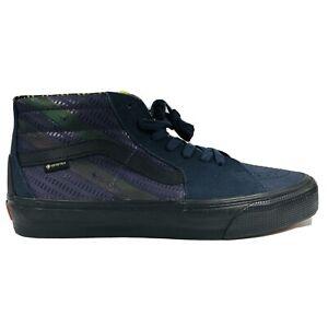 VANS SK8 Mid GoreTex Indian Ink Blue Purple Velvet Reflective Shoe Mens Size 8.5