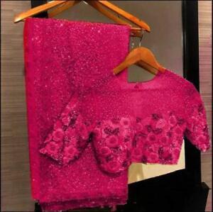 BORSA Readymade Blouse Silk Designer Embroidery Wedding Festival Party Eid