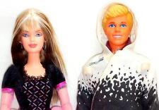 1999 Harley Davidson Barbie Jointed Doll Streaked Blonde + Ken w/G.I. Joe Outfit