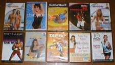Wholesale Lot 10 Exercise/Fitness DVDs-Tae Bo, KettleWorx, Malibu Pilates, etc..
