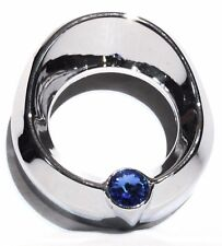 Gauge cover small blue jewel visor chrome for Freightliner Peterbilt Kenworth