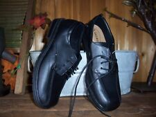 GEORGE BOYS DRESS SHOES SIZE 4 BLACK FORMAL EASTER SHOES CASUAL PAGEANT SHOES NE