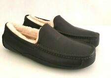 NEW UGG MENS ASCOT CHINA TEA LEATHER SLIPPERS US 7, 8, 9, 10, 103E  STYLE 5379