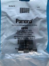 4896 POMONA CONN ADAPT PLUG TO JACK BNC M-F-F TEE GOLD PLATED CENTER 50 OHM