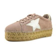 Zapatos planos de mujer de color principal rosa de ante