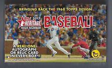 2017 Topps Heritage High Number Baseball sealed Hobby box 24 packs