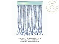 Tenda a cordino colore Argento con profilo in plastica cm 125 x 230