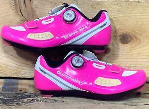 Louis Garneau's Ruby II Women's Cycling Shoes Size 6 US 36 EU Pink / White
