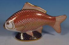 Royal Crown Derby Paperweight Imari Golden Koi Carp Fish Figure