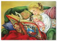 NEW! Childhood Little girl Mom Book ART Lisi Martin russian postcard modern