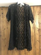 Nordstrom In Bloom By Jonquil Lace Robe Black S
