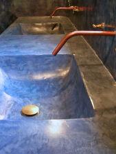 Kit beton ciré 3 m, Rivestimento murale, cucina ,isola, piano di lavoro, lavabo
