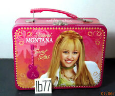 Hannah Montana ,Secret Star,Square Tin Lunch Box - Pink,VG