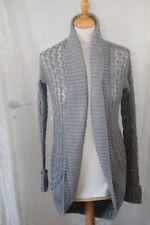 ORIGINAL Gilet MEXX gris crochet col Châle taille 36 neuf