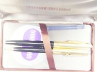 Clean Vintage Boxed Waterman Fountain Pen and Ballpoint Pen Set - 18K nib - 2S