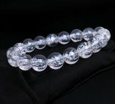 Crystal Gemstone Round Beads Bracele 10.2mm Natural Hima Alaya White Quartz