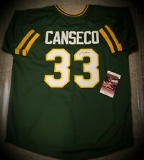 Jose Canseco Oakland Athletics Signed Autographed Jersey JSA COA Authentic