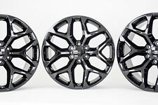 "22"" Yukon Denali GMC Wheels Rims CK156 Snowflake Sierra 2016 2017 2018 NEW Black"