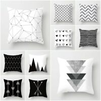 Black&White Geometric Throw Cover Pillow Cushion-Square Case Decorate Dazzling
