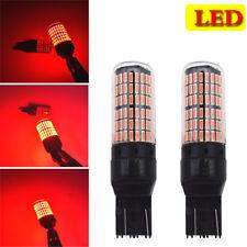 2PC T20 7443 Red LED Bulbs Blasting Flash For Brake Lights/Rear Fog Lamp 9-30VDC