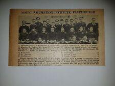 Mount Assumption Institute & Pelham Memorial HS New York 1928 Football Team Pic
