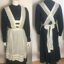 Vintage Original 1920s Maid Or Servant Dress W/Apron