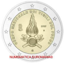 2 EURO ITALIA 2020 - VIGILI DEL FUOCO FDC DA ROTOLINO - SUBITO DISPONIBILE!!!