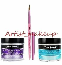 Mia Secret Acrylic Nail Powder White + Clear 2 oz + Kolinsky Artistic Brush # 3D