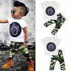 2pcs Toddler Kids Baby Boys Clothes T-shirt Tops+Long Pants Trousers Outfits Set