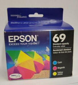 NIP Epson 69 Color Tri-Color Ink Cyan Magenta Yellow T069520 Exp 2017